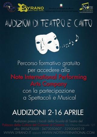 Audizioni Teatro e Canto